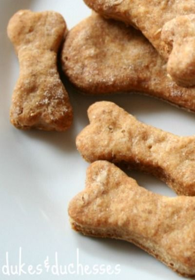 Your dogs will love these DIY bacon dog biscuits!