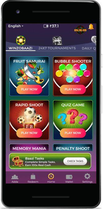 WinZO Play & Win Real Cash Gold app, Money games, App