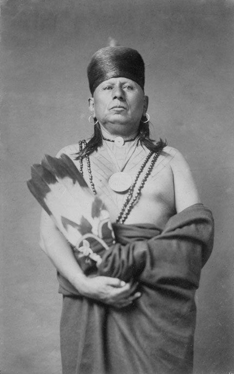 1910 photo of a tattooed Chief from the Osage Nation. #VintageTattoos #VanishingTattoo #TattooHistory