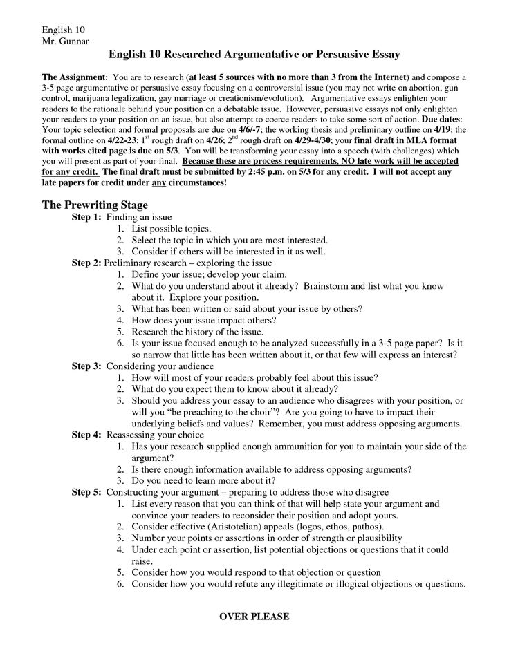 mla format argumentative essay outline - Example Of Argumentative Essays