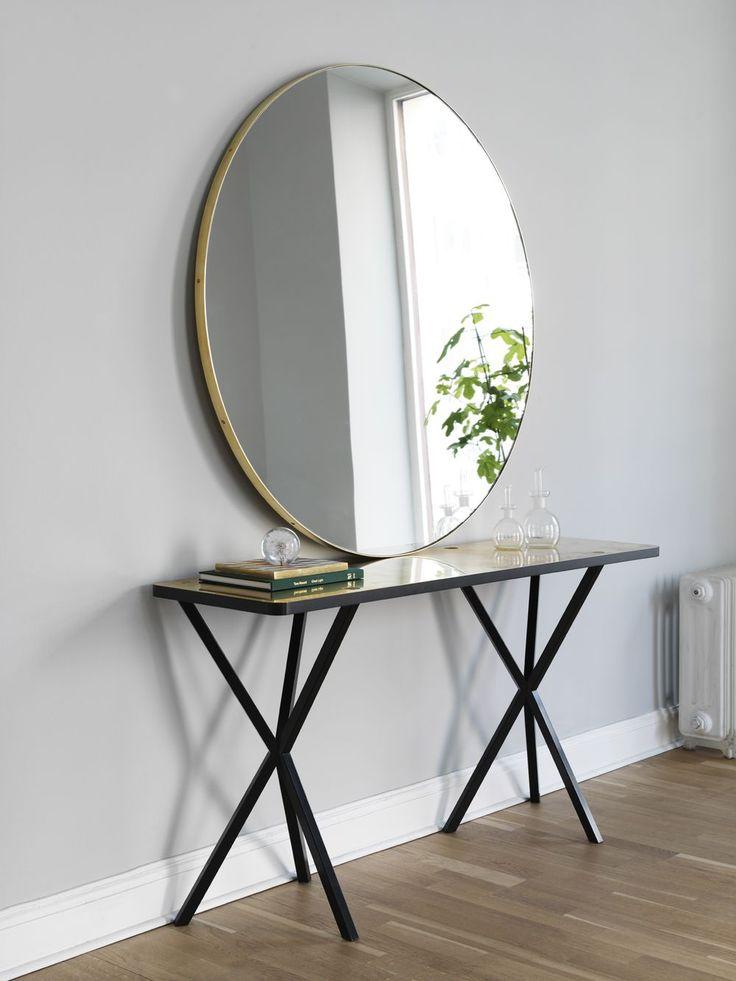 NoEarlyBirds - Per Söderberg - NEB Round mirror with brass edge