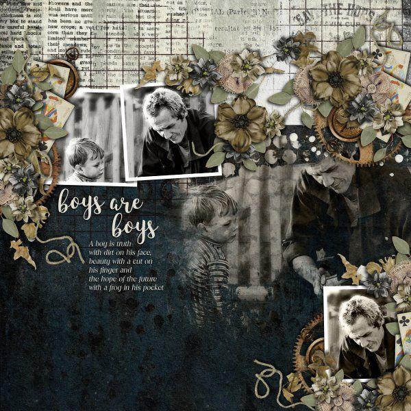 Kit Hey Mister by Studio Manu. Template Mix It Up #6 by Heartstrings Scrap Art.