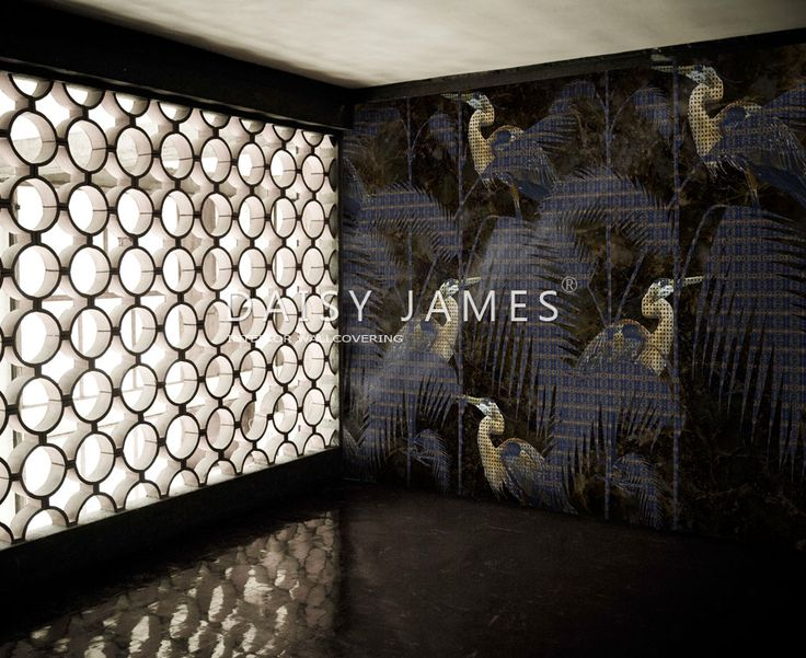 """The Heron"" wallcovering #designinterior"