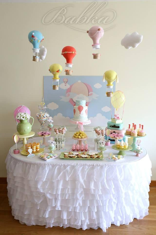 Little Wish Parties | Hot Air Balloon First Birthday | https://littlewishparties.com