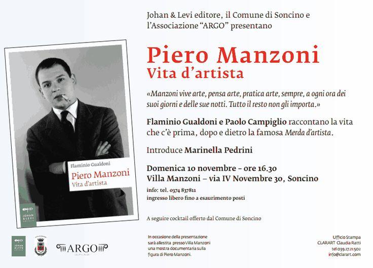 """10 novembre - Soncino (CR) – Presentazione di """"Piero Manzoni – Vita d'artista"""""""