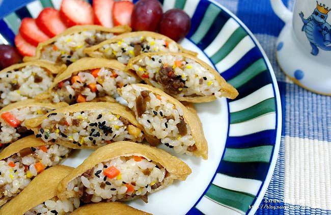 마니아 컬럼(요리) > [유부초밥] 유부초밥 만드는법 - 봄소풍 도시락, 예쁜도시락 만들기 '소고기 유부초밥'