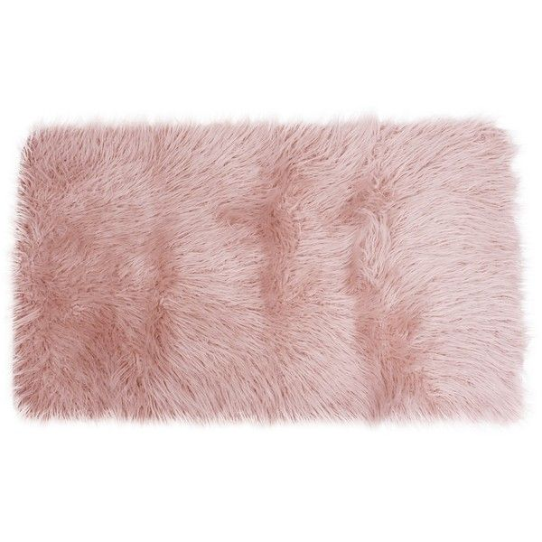 Pink Keller Faux Fur Scatter Rug ($50) ❤ liked on Polyvore featuring home, rugs, faux fur rugs, fake fur rugs, pink rug, pink area rug and faux fur area rug