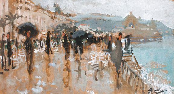 Pierre Eugene Montezin - La promenade des Anglais, Nice
