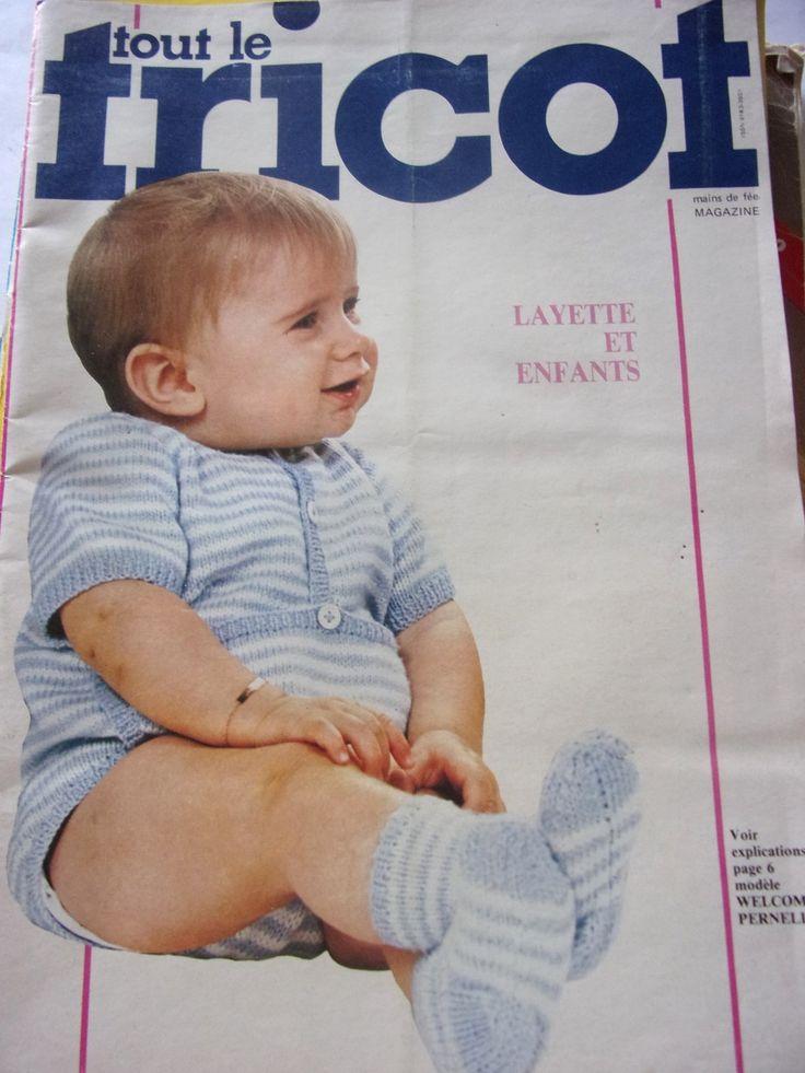 Revue vintage TOUT LE TRICOT MAGAZINE N° 188 layette et enfants : Matériel Tricot par mcc03