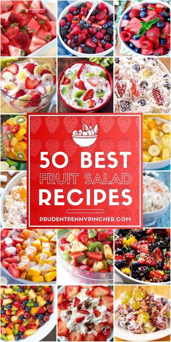50 Best Fruit Salad Recipes – #easysummerrecipes #Fruit #healthysummerrecipes #H…