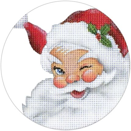 Melissa Shirley Designs | Hand Painted Needlepoint | Santa ©Mary Lake-Thompson