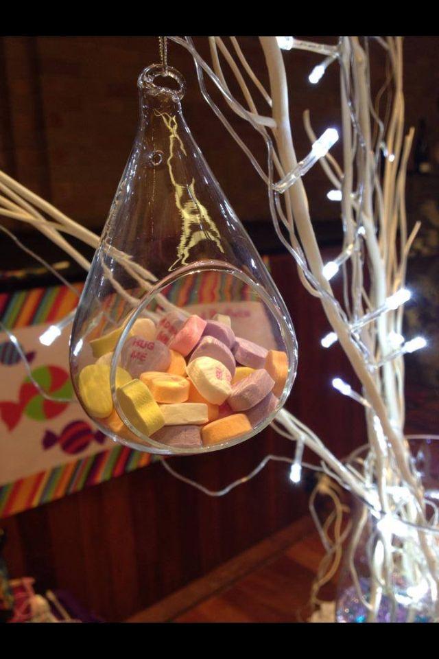 Wedding expo candy buffet