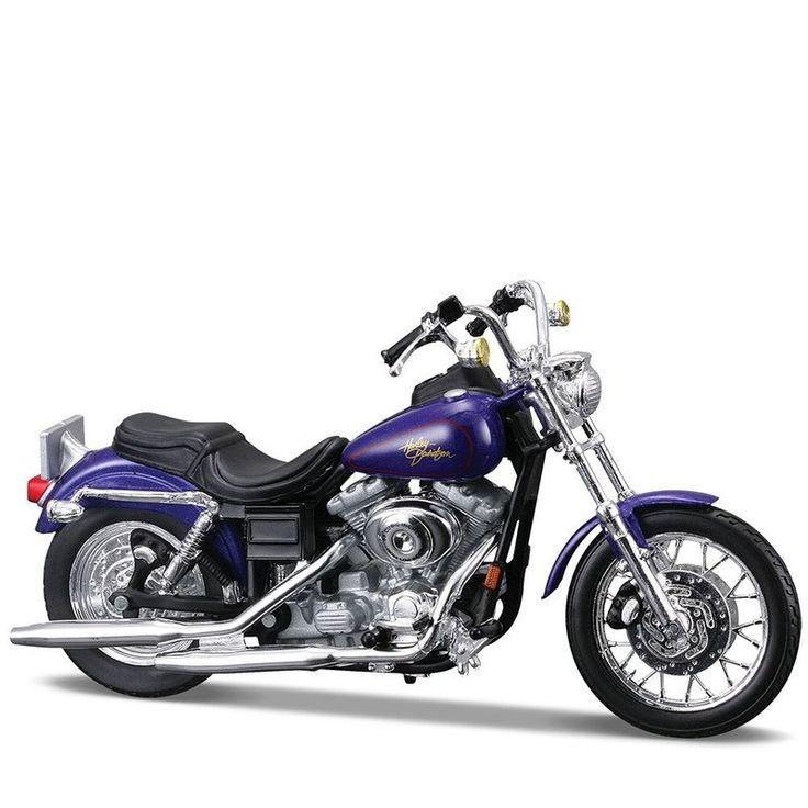 Miniatura Moto Harley-Davidson 2000 FXDL Dyna Low Rider Maisto 1:18 - Machine Cult   A loja das camisetas de carro e moto