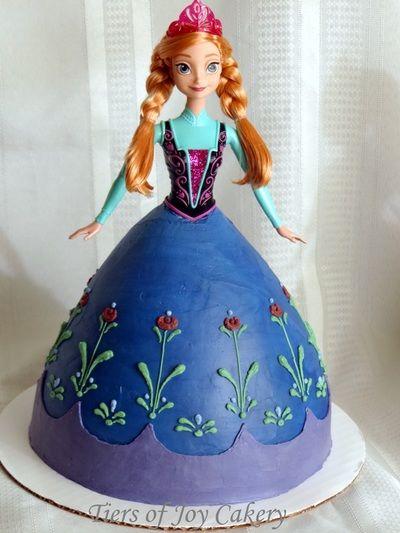 "Princess Anna doll cake from Disney's ""Frozen""."