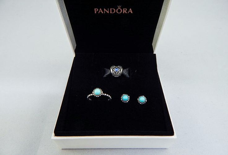 Pandora's beautiful birthstone range for December is Turquoise and London Blue Crystal set in stunning sterling silver pieces. The bright turquoise stone looks fantastic as a statement piece and beautiful stacked with other rings. The birthstone ring, earrings and brand new openwork heart charm are the perfect addition to any Pandora collection for December birthdays! www.knightjewellers.com #knightjewellers #pandora #birthstone