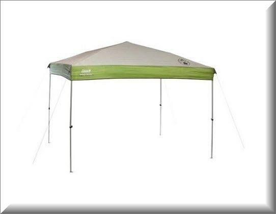 Instant Canopy Gazebo Shelter 9x7 Straight Leg Camping Backyard Shade Steel US $145.12 #Coleman