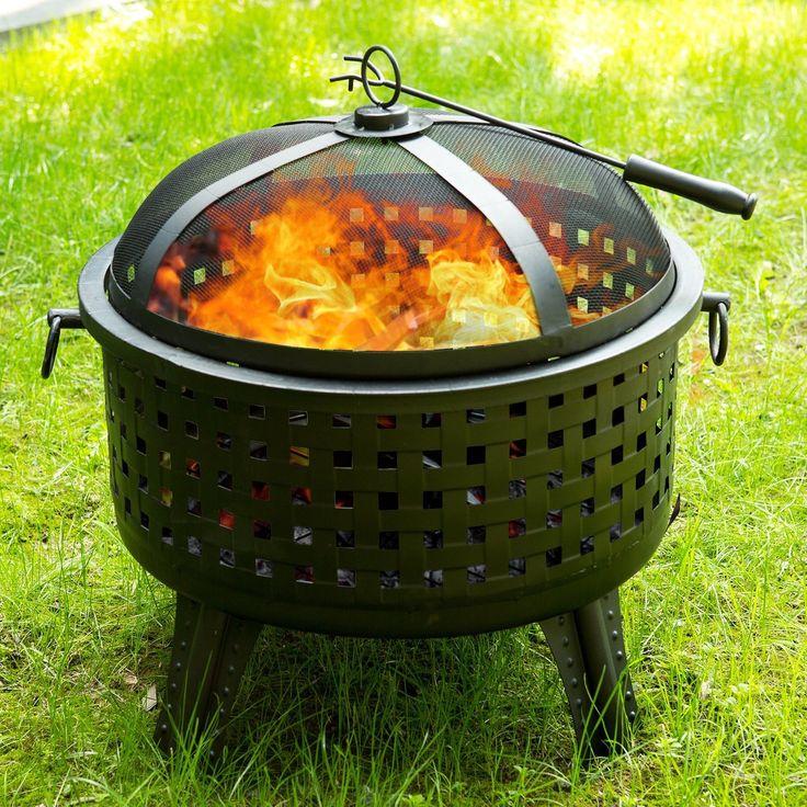 Outdoor Garden Patio Cast Iron Bowl Fireplace