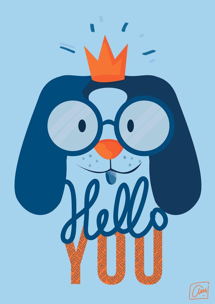 """Participation au concours """"Chiens Mignons"""" de @MonsieurPoulet #illustrations #dog #helloyou ©angeliqueDesign"""