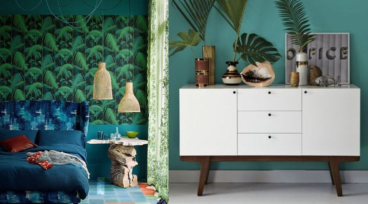 20 id es pour une d co tropicale inspiration jungles et lieux. Black Bedroom Furniture Sets. Home Design Ideas