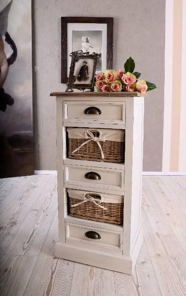 Ideal Dekorative Kommode Rattan Schubladen Vintage Stil Antik Look in Herten kaufen bei ricardo ch