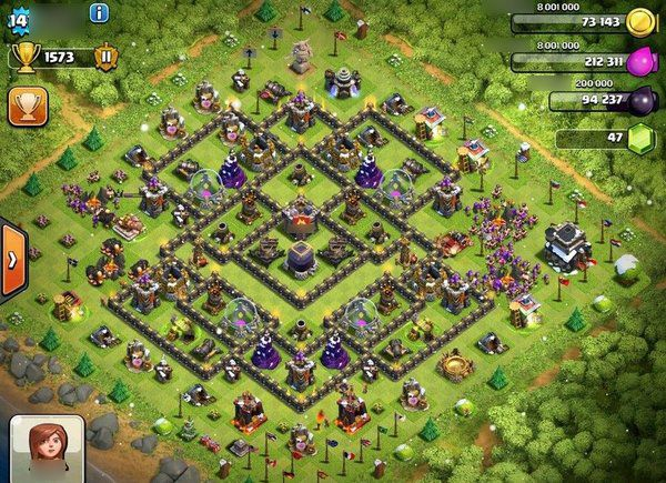 Clash of Clans TH9 B