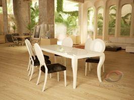 Niebanalny, piękny lakierowany stół rozkładany. Stół MILANO ukazuje niezwykłe piękno ukryte w przedmiocie codziennego użytku. Swoim wyglądem nawiązuje do tradycji, połysk lakieru sprawia, że wygląda całkiem współcześnie.