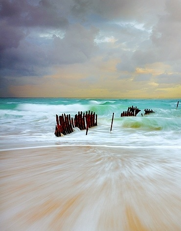 MSS Dicky Shipwreck, Dicky Beach. Sunshine Coast. Queensland. Australia