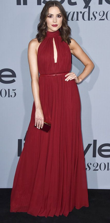 Olivia Culpo arrives at the inaugural InStyle Awards at The Getty Center on Monday, Oct. 26, 2015, in Los Angeles. (Photo by Jordan Strauss/Invision/AP)