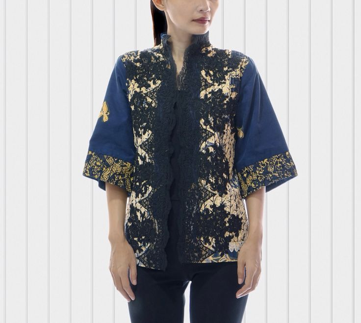 Two side Batik lawasan with lace and embordired