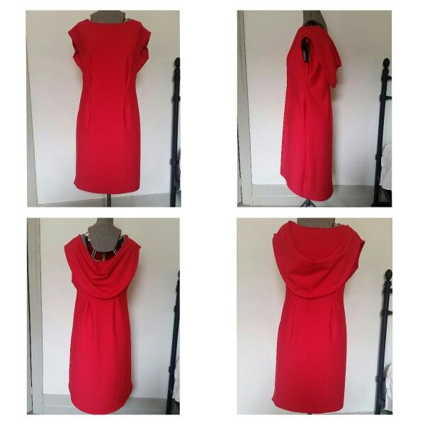 Cowl caped dress in ponti, made on request email meleeamelbourne@gmail.com