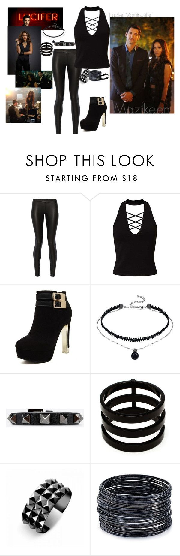 """""""Lucifer - Mazikeen """"maze"""""""" by moe42564 ❤ liked on Polyvore featuring The Row, Miss Selfridge, Valentino, Repossi, Waterford, ABS by Allen Schwartz and Cartier"""