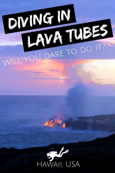Diving in lava tubes in Big Island in Hawaii in USA. Will you dare to do it, considering that Big Island is the most active volcanic island in the world? - World Adventure Divers - Scuba Diving in Hawaii - #underwater #underwaterphotography #uwpics #snorkeling#snorkel#snorkelingtrip#scubadiving#scubadive #hawaii #usa #america #lavatube #volcano #bigisland #caverndiving