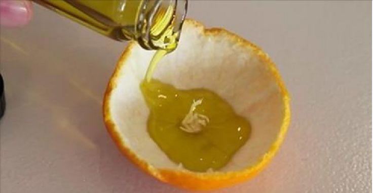 Sai cosa succede se versi dell'olio d'oliva in un mandarino? Dopo averlo visto fare ai miei vicini, sono corsa subito a casa a farlo. E' meraviglioso!