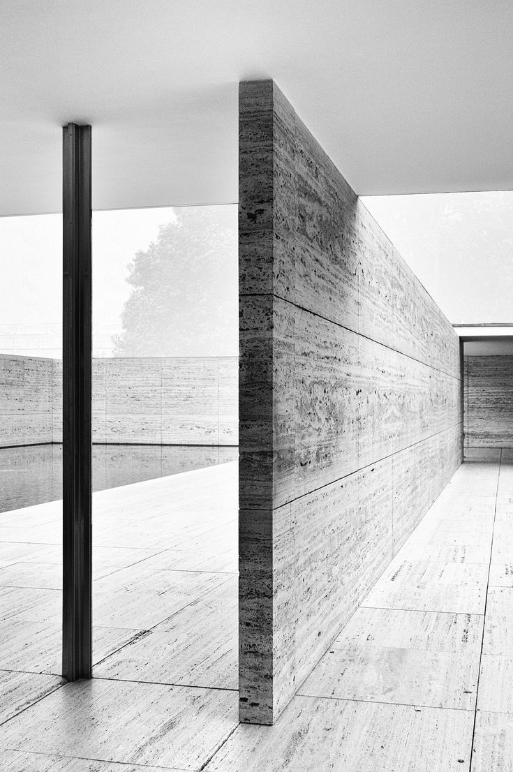 #5  An exceptional, rare view of the #Barcelona Pavilion, by #MiesvanderRohe.  Flawless.