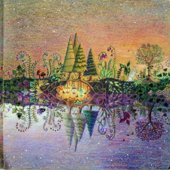 Dit Is Een Prachtige Tekening Deze Springt Er Echt Uit Schitterend Gedaan Johanna Adult ColoringColouringColoring PagesColoring BooksEnchanted Forest