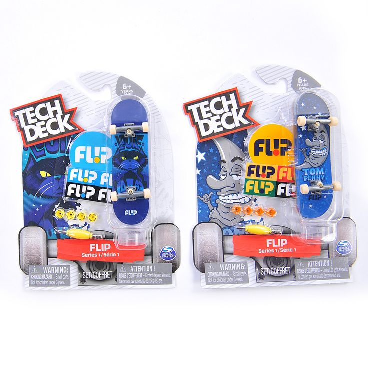 Tech Deck Flip Series 1. Tech Deck brings you the real deal with authentic 96mm fingerboards from real skate companies!