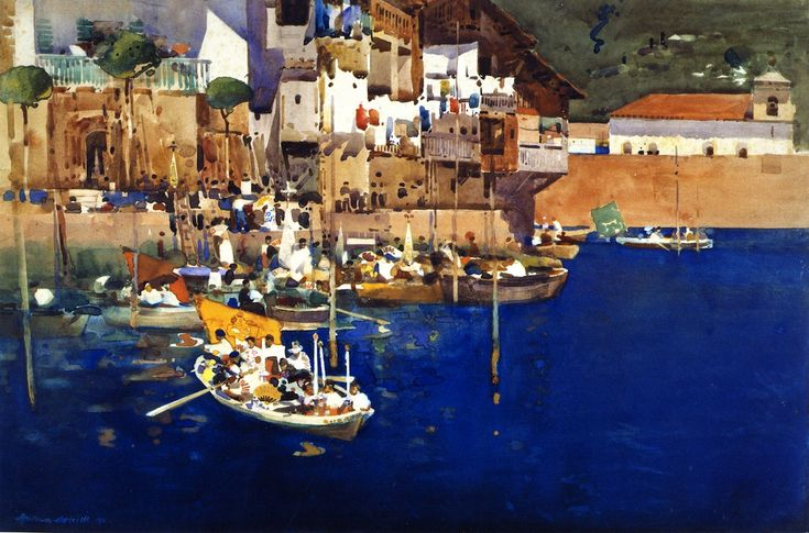A Mediterranean Port, 1892 by Arthur Melville (Scottish, 1855 - 1904)