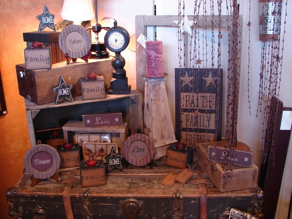 New country primitive home decor simply northwest displays for Home decor on highway 6