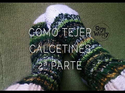 C mo tejer calcetines con dos agujas 2 parte patr n http - Como hacer calcetines de lana a dos agujas ...