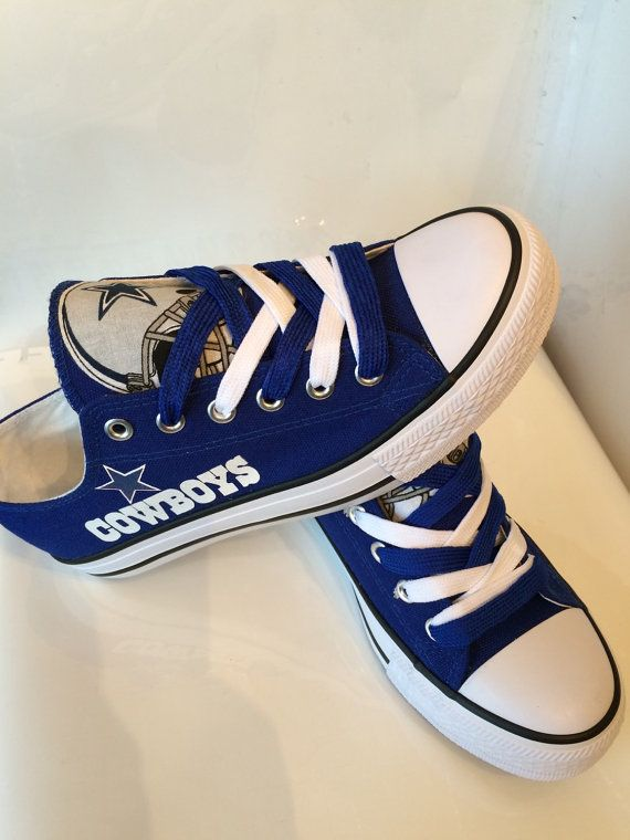 Dallas cowboys womens tennis shoes by Sportzfanatics on Etsy  ae84e4ace