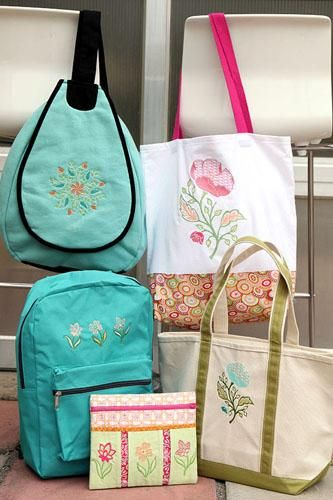 Embroider ready-made bags for gifts! Amanda Murphy talks about her upcoming Craftsy classes highlighting embroidery.