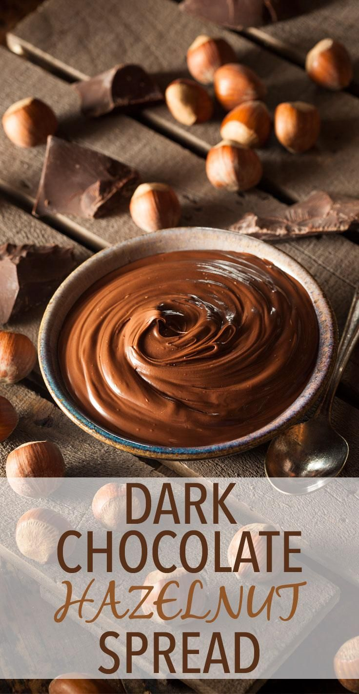 This homemade dark chocolate hazelnut spread tastes just as good as anything you could buy, but it's made with healthy, wholesome ingredients to make it even better. Get the recipe here! // recipes // desserts // cheats and treats // cheat clean // beachbody // beachbody blog