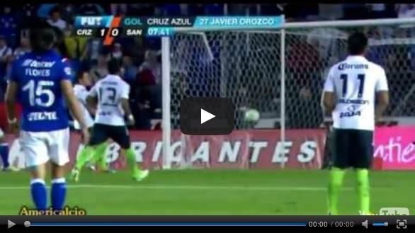 Vídeo del resumen y goles entre Cruz Azul vs Santos partido que corresponde a la vuelta de la Semifinal Liga MX Clausura 2013.  Marcador Final: Cruz Azul 2-1 Santos. Global: Cruz Azul 5-1 Santos.
