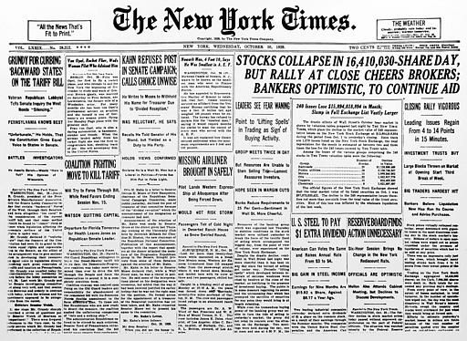 an introduction to the explanations for the 1929 stock market crash in the united states The teacher then uses another visual to intro- duce the  the economy and the  stock market would proba-  9,000 bank failures in the united states   speculate on explanations of the mystery 2  crash of october 1929  undoubtedly made.