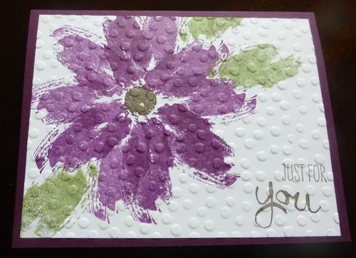 Flower created with the Stampin' Up! Work of Art stamp set. Beautiful!