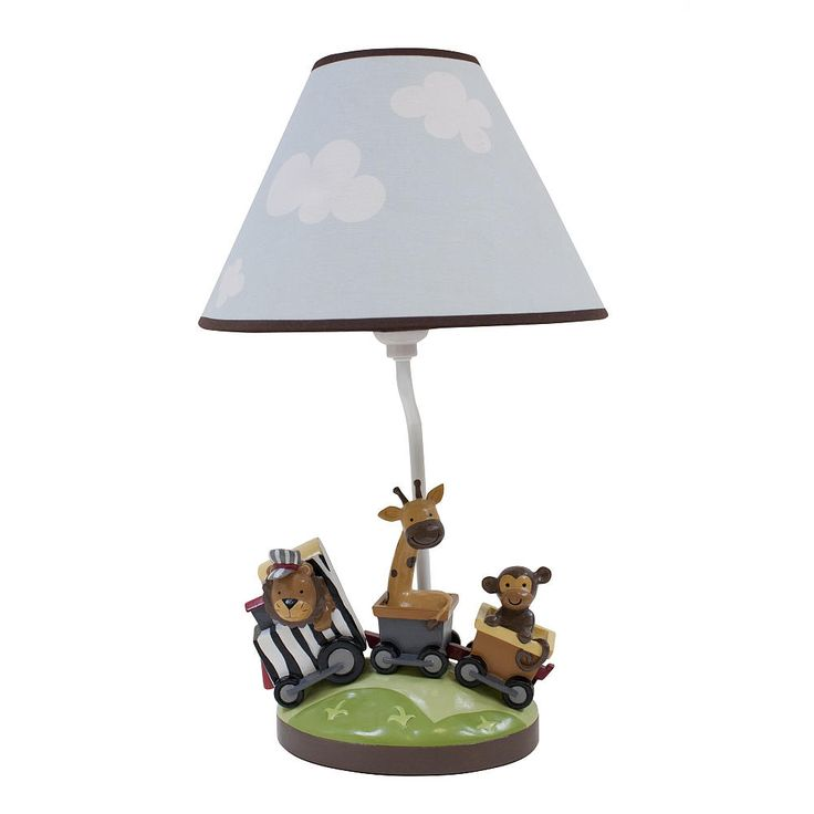 lambs ivy safari express lamp is the perfect touch to light up your. Black Bedroom Furniture Sets. Home Design Ideas