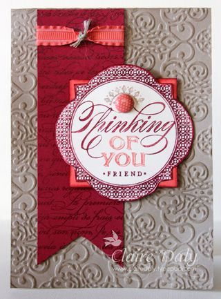 PPA Colour Challenge 154 by Claire Daly Stampin' Up! Demonstrator Melbourne Australia. Stampin Up Just Thinking stamp.