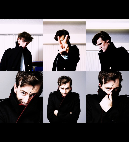 What is it with these boys and collars? 10th Doctor David Tennant and 11th Doctor Matt Smith. Time Lords...❤