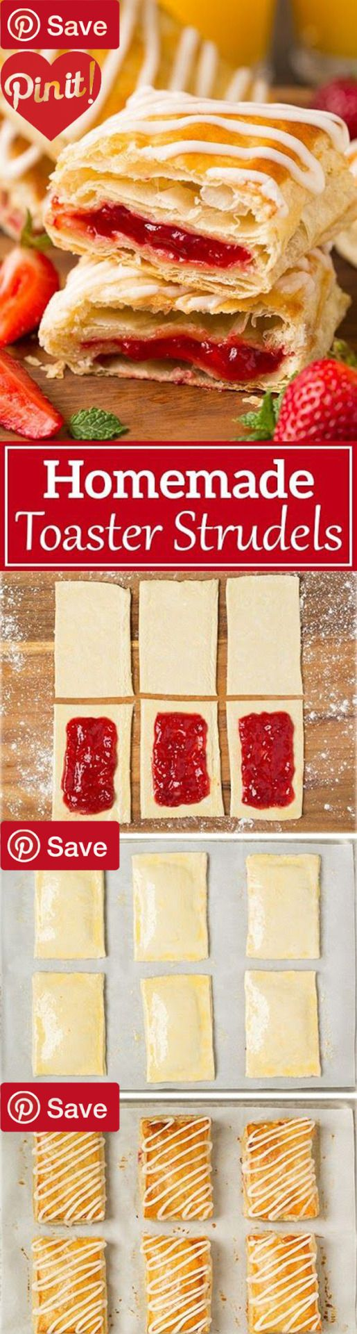 Homemade Toaster Strudels #delicious #diy #Easy #food #love #recipe #recipes #tutorial #yummy @mabarto - Make sure to follow cause we post alot of food recipes and DIY we post Food and drinks gifts animals and pets and sometimes art and of course Diy and crafts films music garden hair and beauty and make up health and fitness and yes we do post women's fashion sometimes and even wedding ideas travel and sport science and nature products and photography outdoors and indoors men's fashion too…