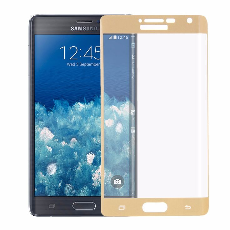 For Samsung Galaxy Note Edge / N915 Ultrathin Curved Glass Film Screen Protector Case High Quality